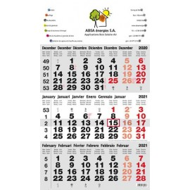 Calendriers 3 mois